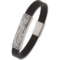 Bracelet cuir plaque acier...