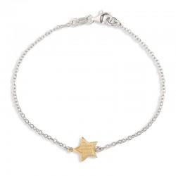 Bracelet étoile martelée doré