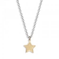 Collier étoile martelée doré