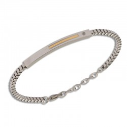 Bracelet acier chaîne, tube...