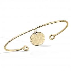 Bracelet SOLAR jonc plaqué or