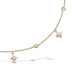 Collier STARS, plaqué or...