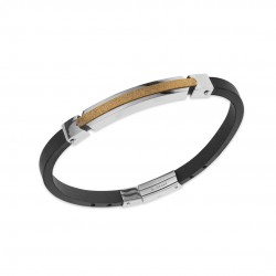 Bracelet homme acier silver...