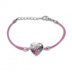 Bracelet CALLAS cordon rose...