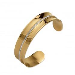Bracelet acier gold et cristal
