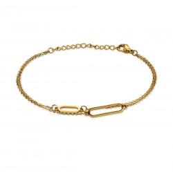 Bracelet acier gold double...