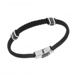 Bracelet nylon noir motifs...
